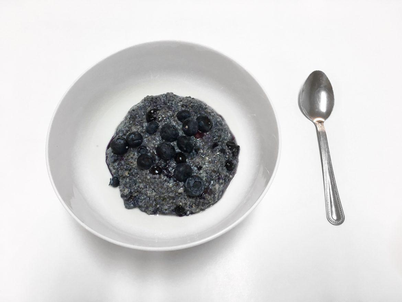 Blueberry Porridge with Chia and Hemp Seeds